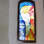 Vierge sur Vitrail